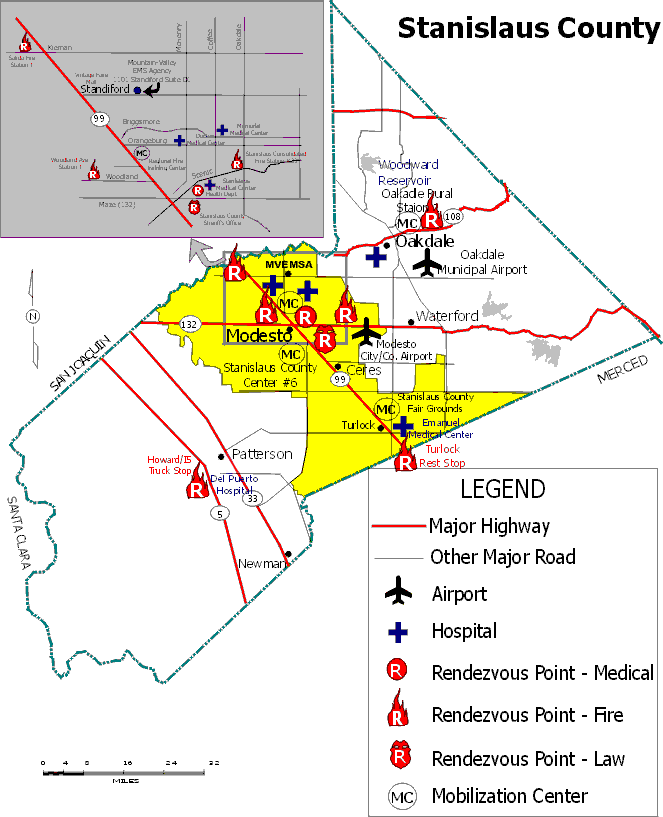 Stanislaus County Map
